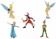 Bullyland Disney Peter Pan Tinkerbell Figures Cake Toppers - 5 Figures To Choose