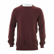 Jack & Jones Mens Persson Crew Rib Knit Sweater (Port)