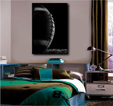 American Football Ball Close Up Sport Black and White Canvas Art Poster Print