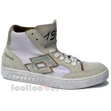 Scarpe Lotto Leggenda Dino IV CVS Q6350 Man Sneakers Basketball Vintage White