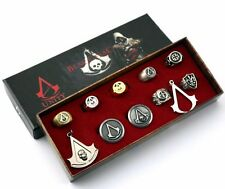 Assassins Creed Toys Action Figures Wallet Pin Set Rings Role Play Edward Kenway