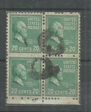 USA =  =USED BLOCK OF 4 - JAMES CARFILED. PRESIDENT