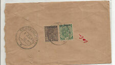 B1-INDIA - COVER USED IN BURMA -1938 = 2 STAMPS