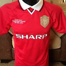 Manchester United Score Draw Camp Nou Champions League Final Football Shirt Top