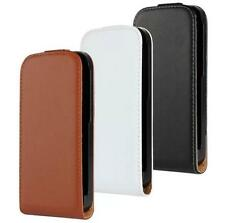 Genuine Real Leather Magnetic Vertical Flip Phone Case Cover For HTC One M8 Mini