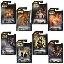 OFFICIAL DISNEY STAR WARS HOT WHEELS MOVIE VEHICLES COLLECTION - COLLECT ALL 8!