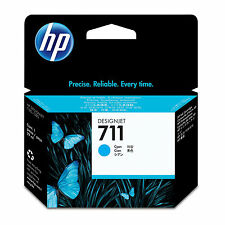 GENUINE OEM HP HEWLETT PACKARD DESIGNJET CYAN INK CARTRIDGE - HP 711 / CZ130A