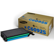GENUINE SAMSUNG / HP CLT-C6092S (C6092S) CYAN LASER PRINTER TONER CARTRIDGE