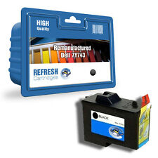 REFRESH CARTRIDGES 7Y743 / 592-10043 BLACK INK COMPATIBLE WITH DELL PRINTERS