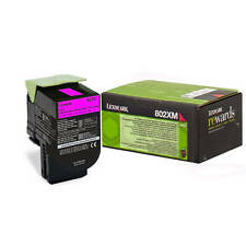 OEM LEXMARK 80C2XM0 MAGENTA EXTRA HIGH CAPACITY RETURN PROGRAM TONER CARTRIDGE