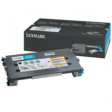 GENUINE LEXMARK 0C500H2CG HIGH CAPACITY CYAN TONER CARTRIDGE FOR LASER PRINTERS
