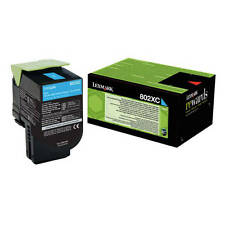 OEM LEXMARK 80C2XC0 CYAN EXTRA HIGH CAPACITY RETURN PROGRAM TONER CARTRIDGE