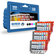 COMPATIBLE CANON INK CARTRIDGE VALUE PACK BCI-3eBK BCI-6 3 FULL SETS + EXTRA BLK