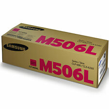 GENUINE SAMSUNG CLT-M506L/ELS M506L MAGENTA HIGH CAPACITY LASER TONER CARTRIDGE