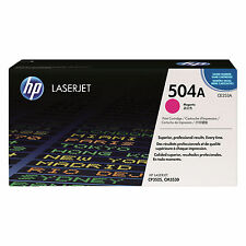 GENUINE HP HEWLETT PACKARD CE253A / 504A MAGENTA LASER PRINTER TONER CARTRIDGE