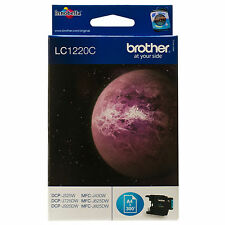 GENUINE BROTHER CYAN PRINTER INK CARTRIDGE LC1220 / LC1220C - 300 PAGE YIELD