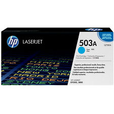 GENUINE HP HEWLETT PACKARD Q7581A / 503A CYAN LASER PRINTER TONER CARTRIDGE