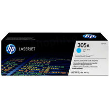 GENUINE HP HEWLETT PACKARD CE411A / 305A CYAN LASER PRINTER TONER CARTRIDGE