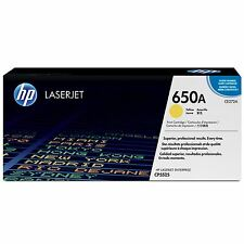 GENUINE HP HEWLETT PACKARD CE272A / 650A YELLOW LASER PRINTER TONER CARTRIDGE