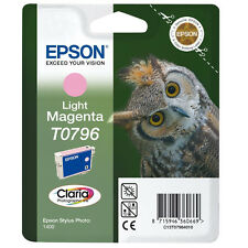 GENUINE EPSON OWL SERIES LIGHT MAGENTA PRINTER INK CARTRIDGE T0796 C13T07964010