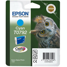 GENUINE EPSON OWL SERIES CYAN PRINTER INK CARTRIDGE T0792 (C13T07924010)