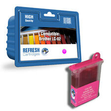 COMPATIBLE BROTHER LC-02M MAGENTA PRINTER INK CARTRIDGE (LC-02 SERIES)