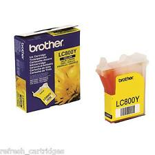 GENUINE OEM BROTHER LC800Y YELLOW PRINTER INK CARTRIDGE FOR BROTHER MFC SERIES