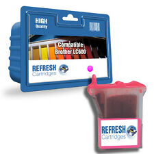 COMPATIBLE BROTHER LC600M MAGENTA SINGLE PRINTER INK CARTRIDGE - LC600 SERIES