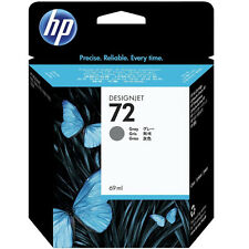 GENUINE HP DESIGNJET GREY INK CARTRIDGE 69ML CAPACITY - HP 72 / C9401A