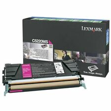 GENUINE LEXMARK 00C5220MS MAGENTA LASER TONER CARTRIDGE - RETURNS PROGRAMME