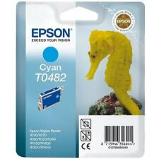 GENUINE EPSON SEA HORSE SERIES CYAN PRINTER INK CARTRIDGE T0482 (C13T04824010)