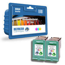 2 REMANUFACTURED HP COLOUR (TRI-COLOUR) INK CARTRIDGES HP 344 HP344 C9363EE