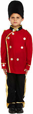 Boys London Busby Guard Outfit Kids Royal Soldier Uniform Fancy Dress Costume