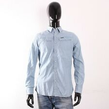 G-Star Tailor Shirt Herren Hemd Light Aged Lockstart Denim Hellblau