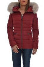 PENN-RICH BY WOOLRICH Giubbotto con pelliccia donna, F-HERITAGE PARKA rosso,