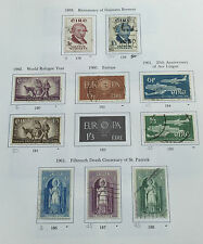 Ireland:1959-1961 Collector's Page - 10 Used Old Irish Postage Stamps