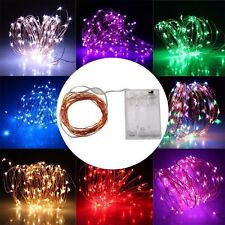 2M 20 LEDs Battery Operated Mini LED Copper Wire String Fairy Lights 6ft