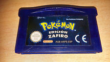 NINTENDO GBA GAME BOY ADVANCE POKEMON EDICION ZAFIRO SOLO CARTUCHO PAL ESPAÑA