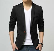 Men Black Slim fit Party wear blazer + 1 pocketsquare hanky + 1 Coat cover