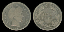 1908-S US Barber Dime 10 Cents Silver Coin