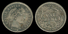 1900-S US Barber Dime 10 Cents Silver Coin 1