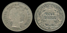 1899-S US Barber Dime 10 Cents Silver Coin 1