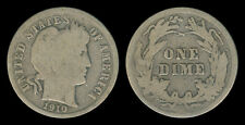 1910 US Barber Dime 10 Cents Silver Coin