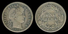 1914 US Barber Dime 10 Cents Silver Coin