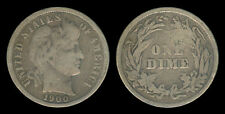 1900 US Barber Dime 10 Cents Silver Coin