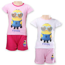 Girls Minions Shorty Pyjamas Top & Short Set Age 6 to 12 Years (831563)