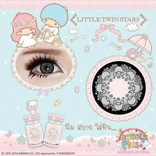Gray Contact Lenses Hello Kitty Cartoon lens Set Free Case+Refill bottles+Bag.