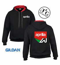 aprillia motorbike motorcycle hoodie hooded top jacket all sizes