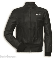 DUCATI Giacca in pelle Giacca bomber pelle Made in Italy nero nuovo 2017
