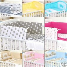 5 Pieces Baby Cot Bed  Cotbed Bedding Set Cot  Bedding Set Bumper Pillow Duvet
